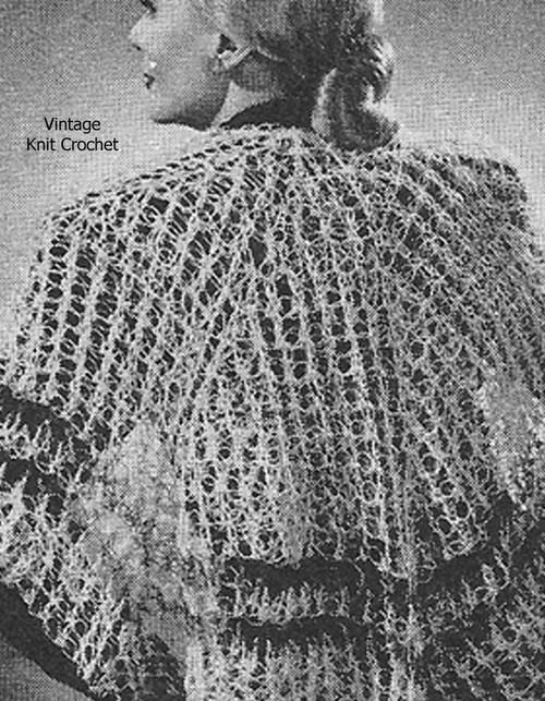 Crochet Shaw Pattern,  Knot Stitch Double Crochet Pattern