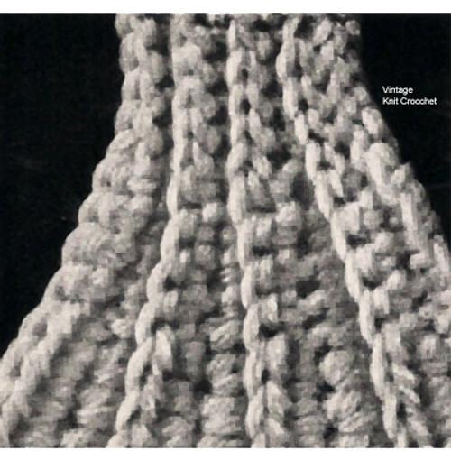 Beginners Cape Crochet Pattern Stitch Illustration