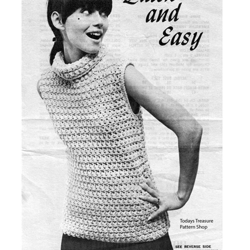 Crocheted Beginners Top Pattern