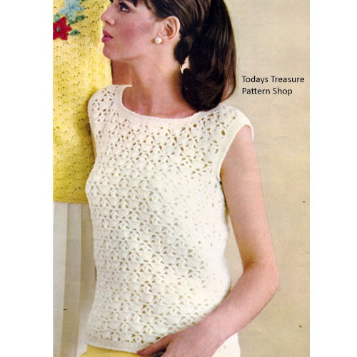 Vintage Crochet Lace Shell Pattern