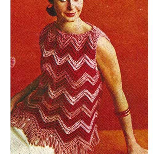 Vintage Rippled Sleeveless Top Pattern