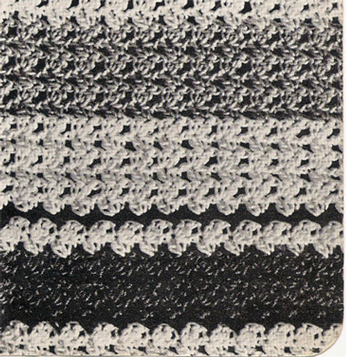 Striped Crochet pattern stitch for blouse