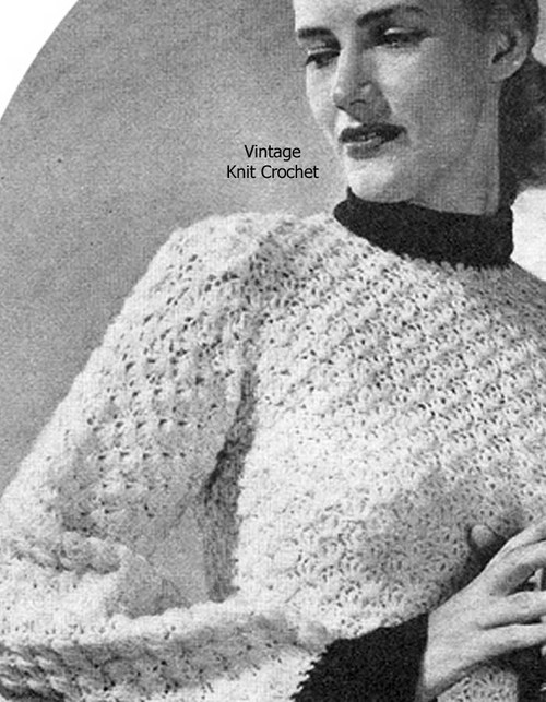 Shell Stitch Jumper Crochet Pattern