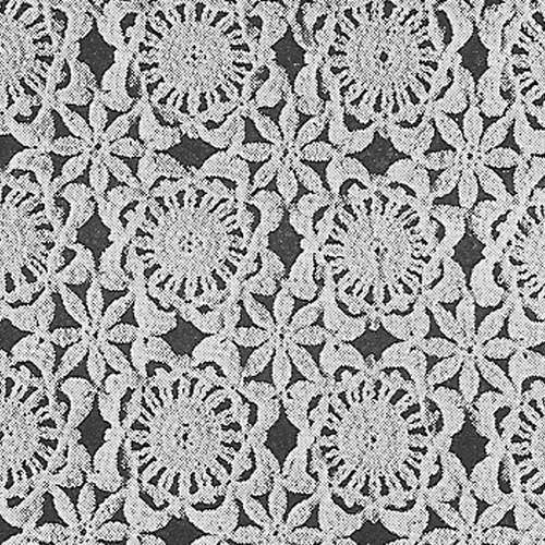 Rose Daisy Crochet Flower Medallion for Tablecloth