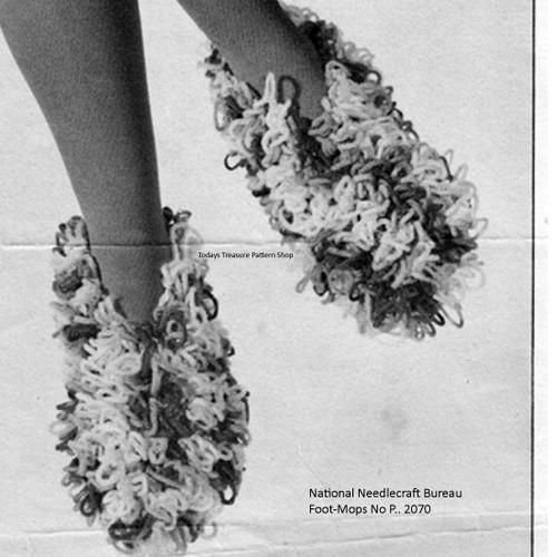 Loop Stitch Crochet Slippers Pattern