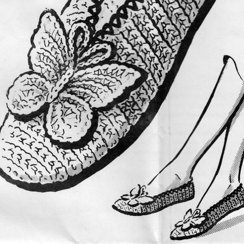Butterfly crochet slippers pattern No 2669