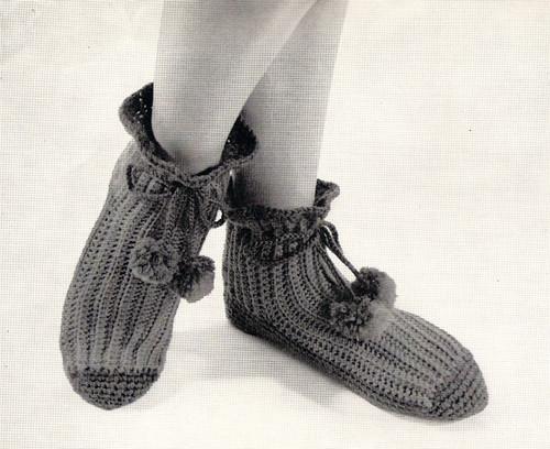 Crochet Bed Socks pattern