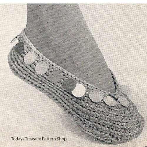 Crochet Bangle Slippers Pattern