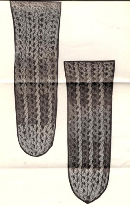 Crochet leg warmer illustration