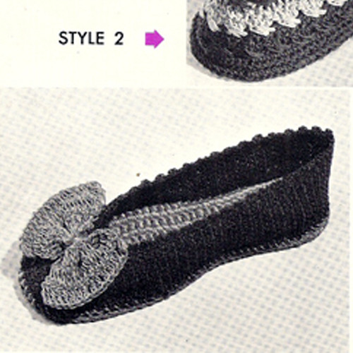 Crochet Bow Slippers Pattern