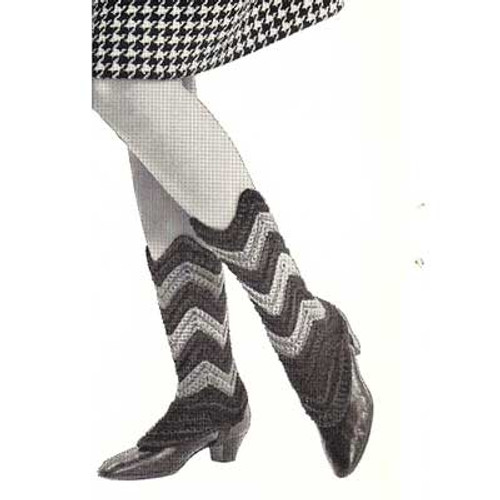Vintage Spats Crochet Pattern in Ripples