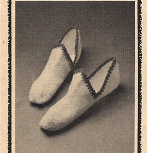 Vintage Crochet Pattern Dutch Slippers