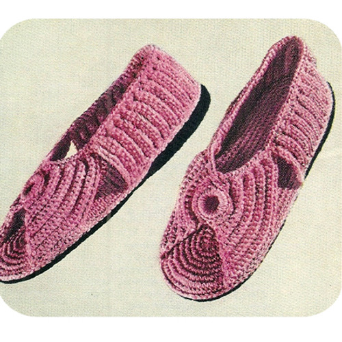 Open Toe Crochet Slippers Pattern with Soles