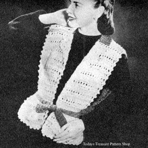 Crocheted Jerkin Pattern in Lace Stitch