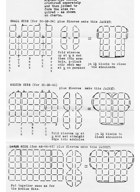 Material Requirements for Granny Square Vest Pattern