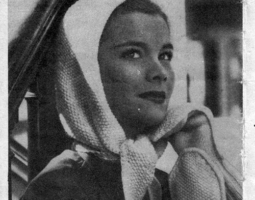 Vintage Free Head Scarf Knitting Pattern