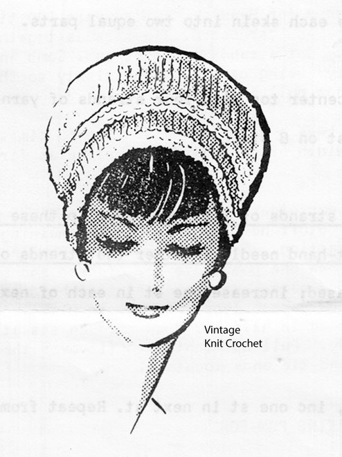 Vintage knitted beret pattern, Mail Order 5291
