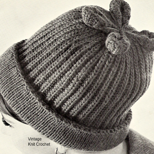 Ribbed Beanie Hat Knitting Pattern