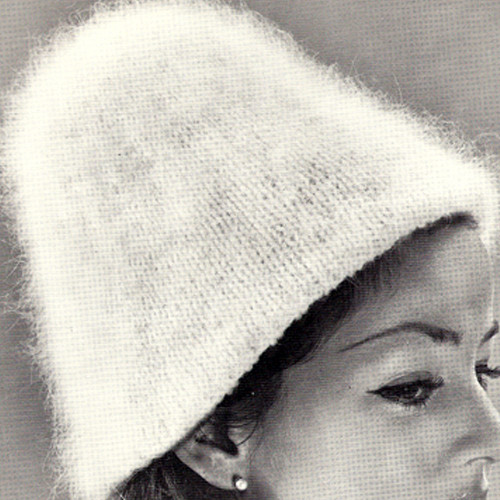 Knitting Pattern Angora Hat from Vintage Knit Crochet