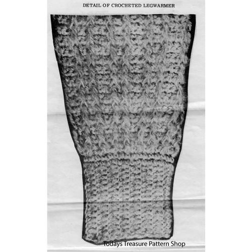 Crochet Leg Warmers Pattern No 7026
