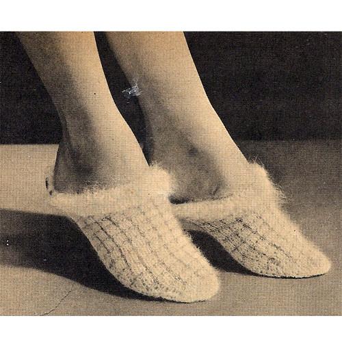 Angora Scuffs Knitting Pattern, Vintage 1950s