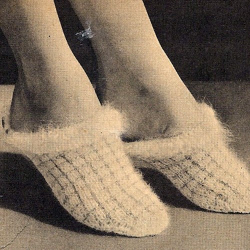 Vintage Angora Knitted Scuffs Pattern