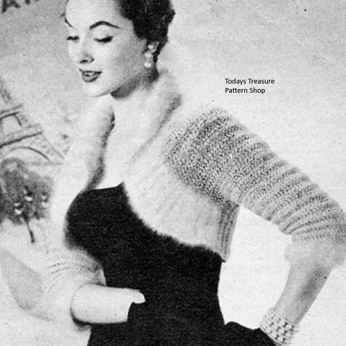 Long Sleeve Knitted Shrug Pattern