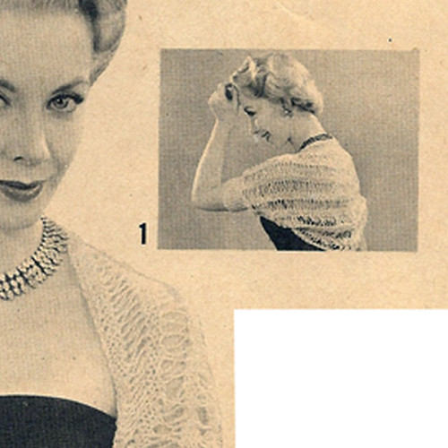 Elegant Shrug Vintage Knitting Pattern