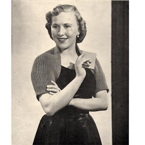 Free Shrug Knitting Pattern, a shoulderette