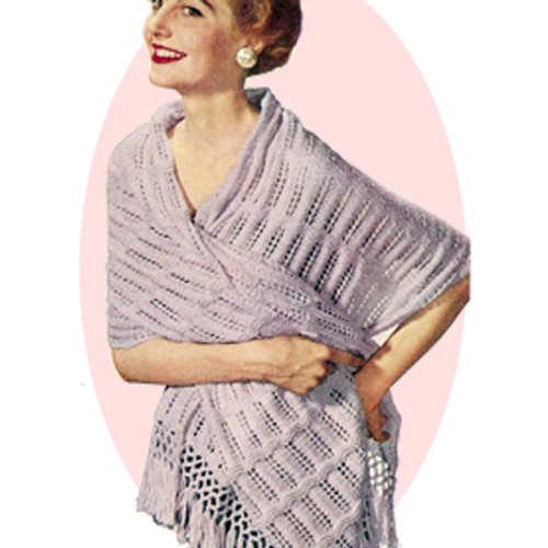 Sheer Knitted Stole Pattern with Fringe