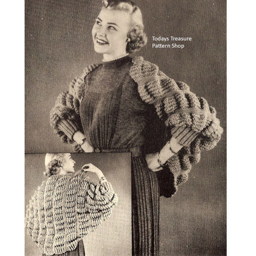 Knitting Pattern, Wide Shoulderette