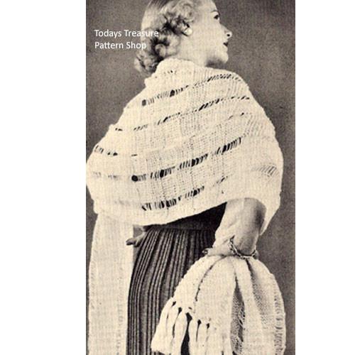 Knitting Pattern, Waffle Weave Stole