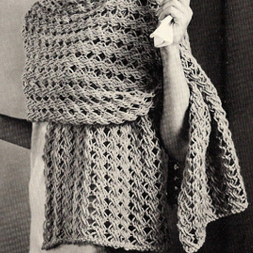 Long Knitted Stole Pattern