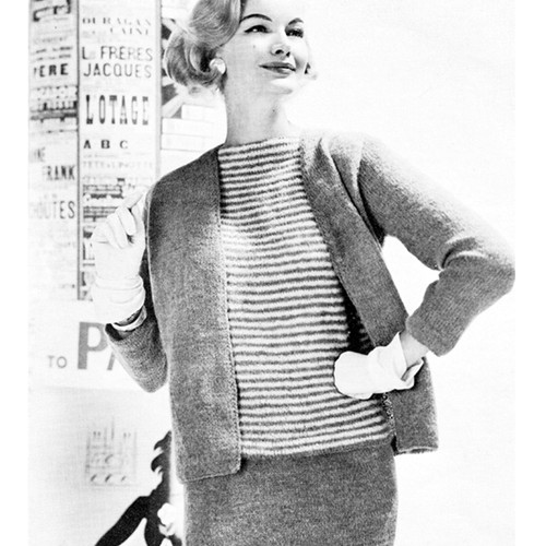 Vintage Three Piece Suit Knitting Pattern from Ungers