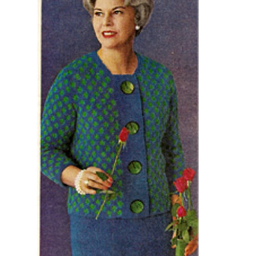 Straight Line Suit Knitting Pattern in Bulky Boucle