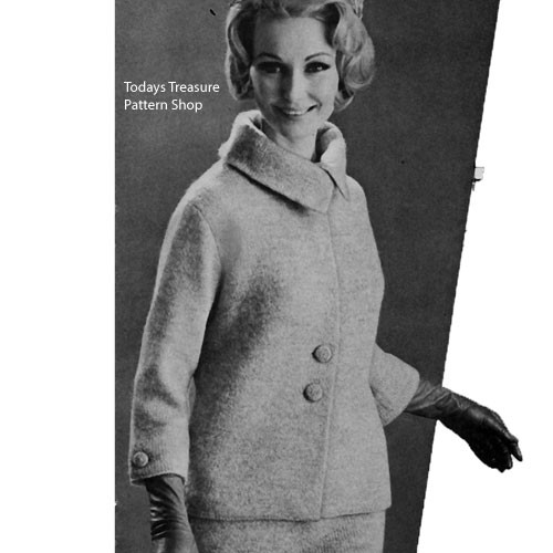 Knitting Pattern Jacket in Laines du Pingouin Tweed