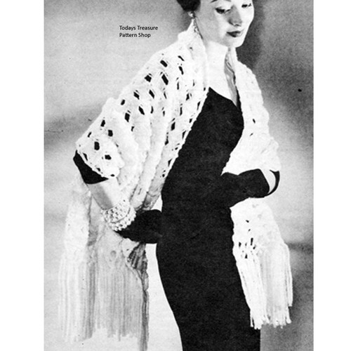 Free Vintage Ungers Stole Knitting Pattern