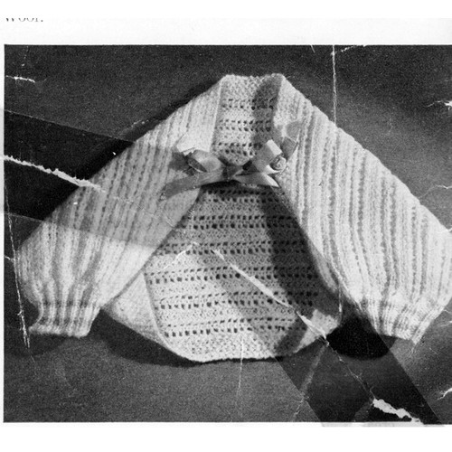 Baby Jacket Knitting Pattern, vintage shoulderette