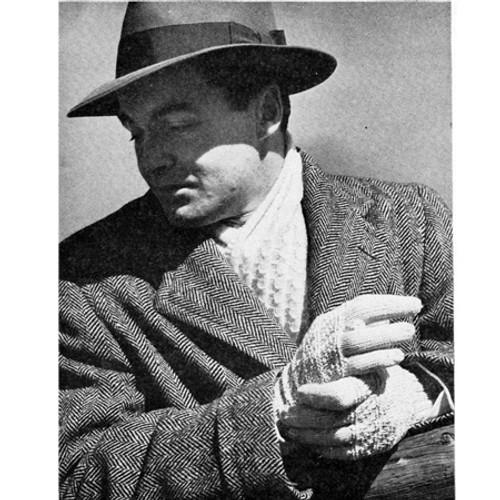 Free Knitting Pattern, Mans String Gloves