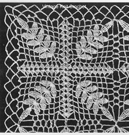 Crochet Fern Square Pattern Illustration