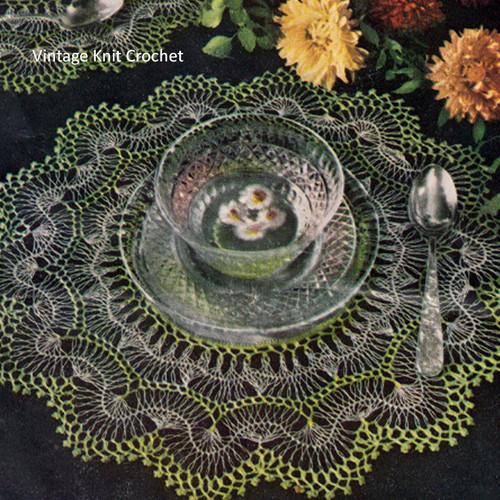 Vintage Hairpin Lace Crochet Doilies Pattern in Crochet Cotton