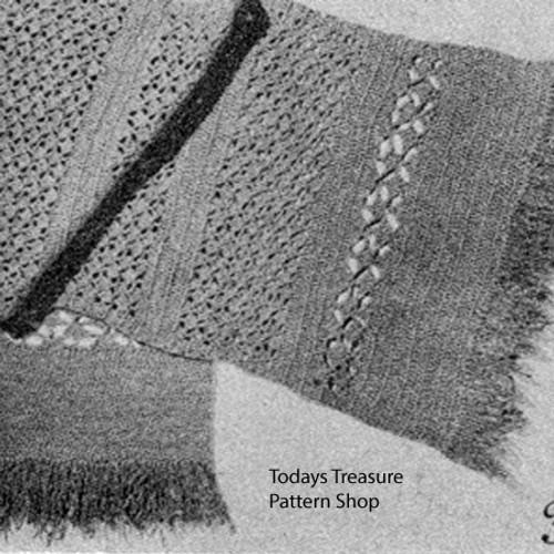 Vintage Wool Scarf, Free Crochet Pattern