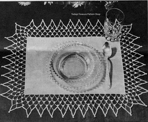 Vintage Spiderweb Crochet Mats, Free Pattern
