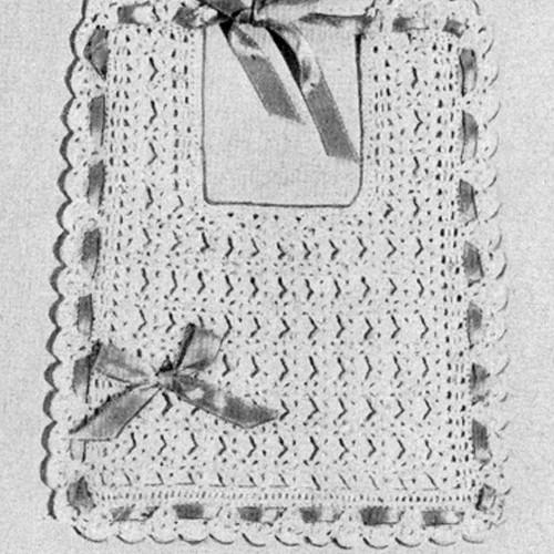 Shell Stitch Crochet Baby Bib Pattern
