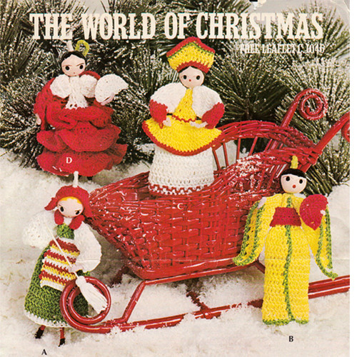 Free Download, The World of Christmas Crochet Dolls Pattern Leaflet 1046