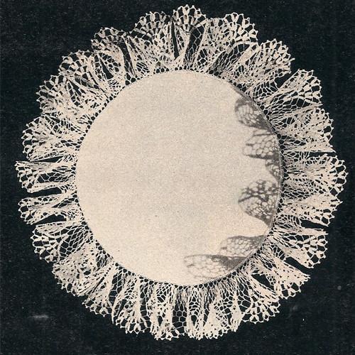 Free Linen Doily Pattern with Crochet Ruffle Border