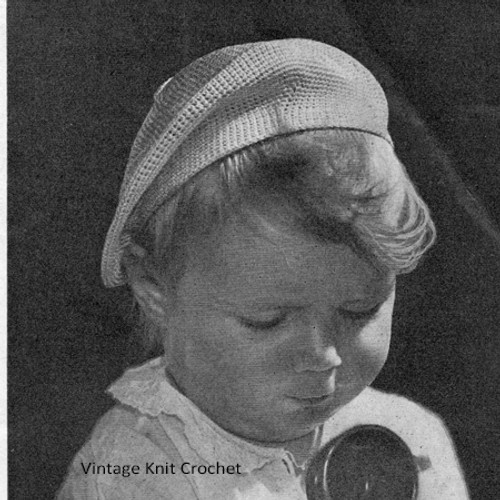 Knitted Beret for Baby Pattern