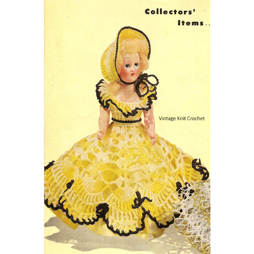 Vintage Crochet Southern Belle Dress Pattern