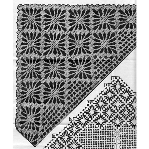 Crochet Square Corner Illustration for Alice Brooks 7320