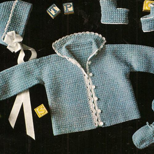 Crochet Baby layette in sock & sweater yarn
